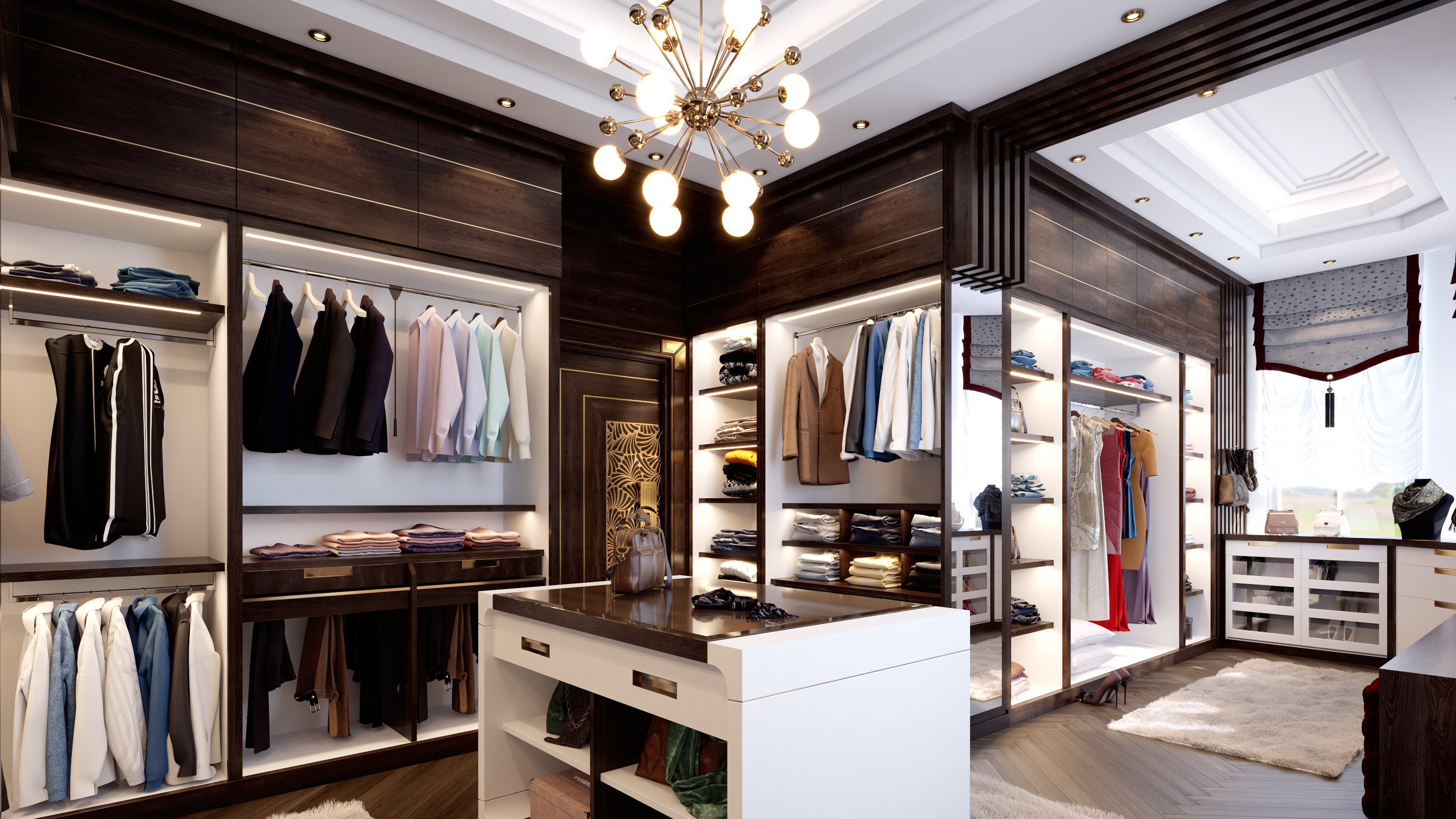 Master Walk-in Closet in 3d max vray 3.0 image