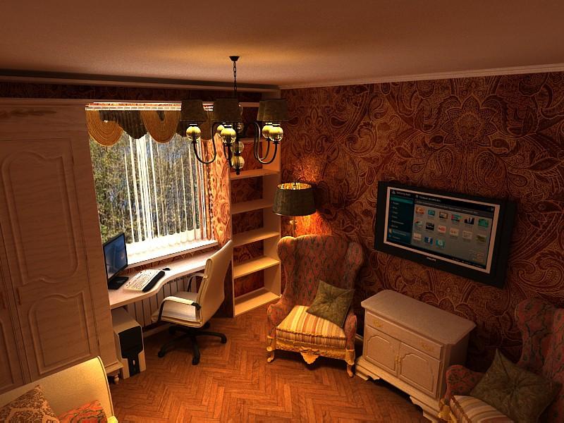 imagen de Dormitorio de estilo victoriano moderno en 3d max vray