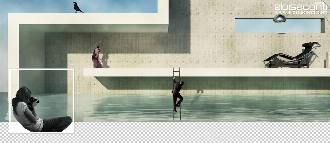 Facebook timeline cover design in Cinema 4d vray image