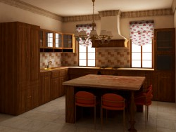English-style kitchen