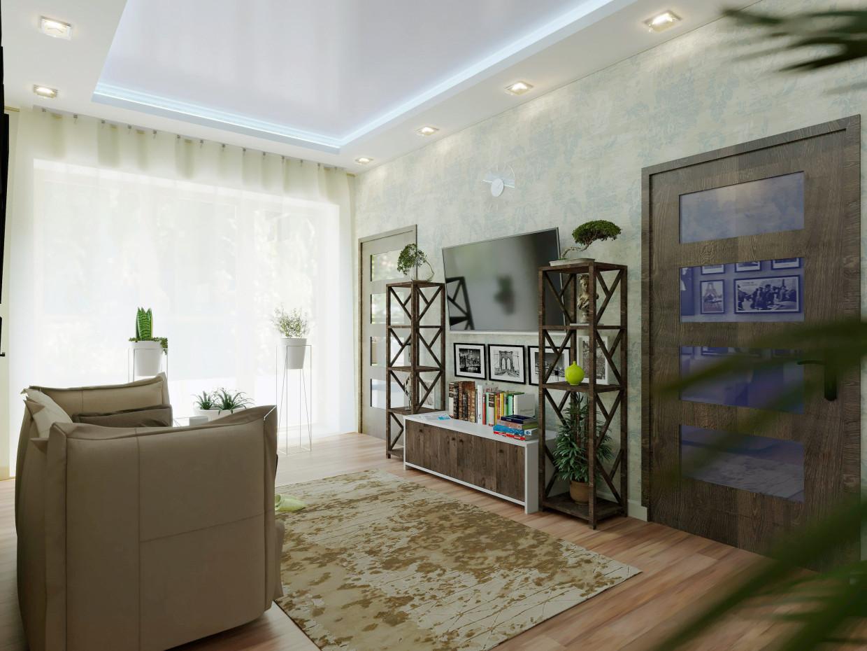 visualisation 3d vivant dans une maison de campagne dans le style vintage. Black Bedroom Furniture Sets. Home Design Ideas