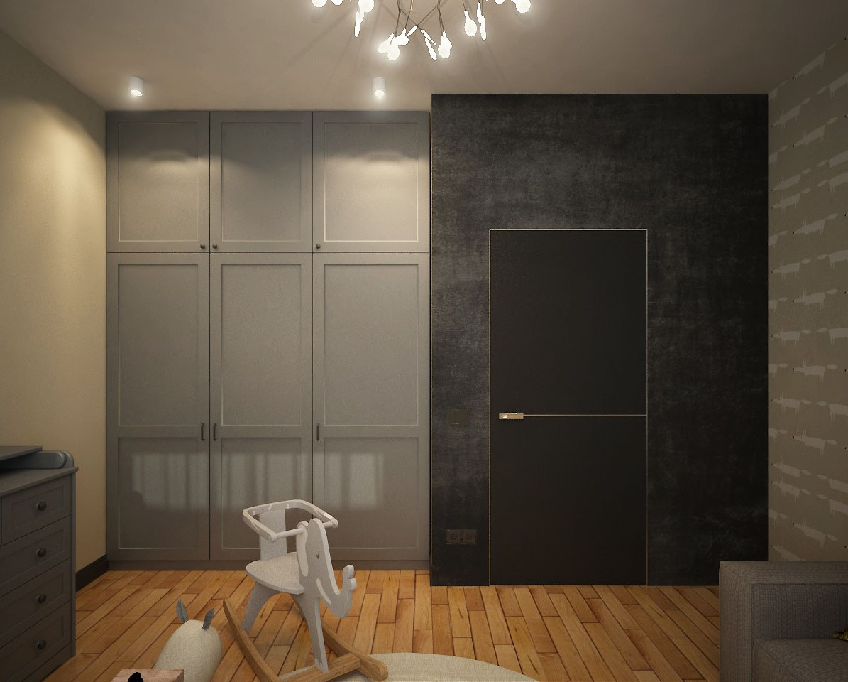 Loft apartment with elements of minimalism, Chelyabinsk in 3d max vray 3.0 image