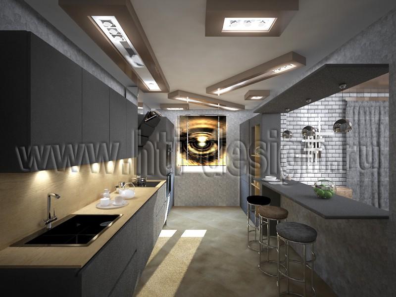 imagen de Interior de estilo Neobrutalizm en 3d max vray
