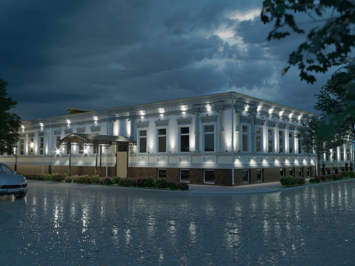 Architectural lighting project of the historical monument. in ArchiCAD corona render image