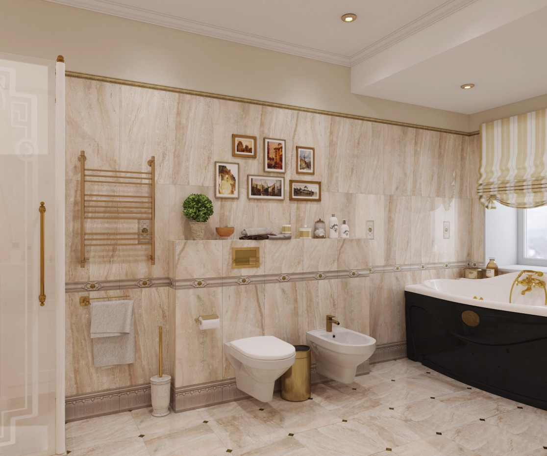 Bathroom 2  in  3d max   corona render  image