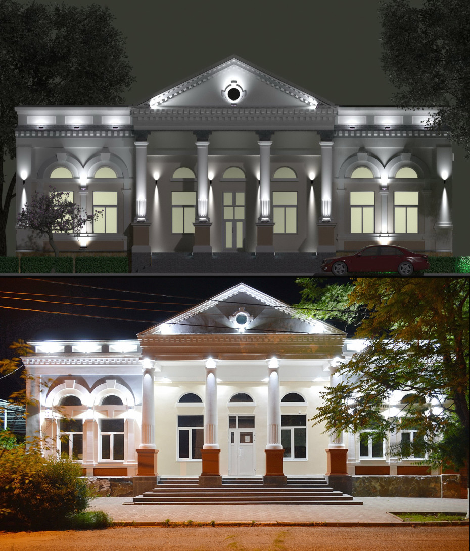 Architectural lighting. in ArchiCAD corona render image