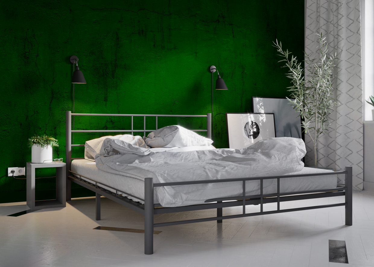 Bed KMD-14 in 3d max corona render image