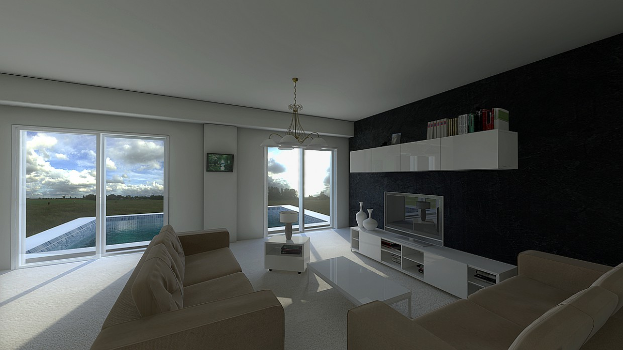 3d visualization of the project in the SEJOUR 3d max, render mental ray of bilal mezzari