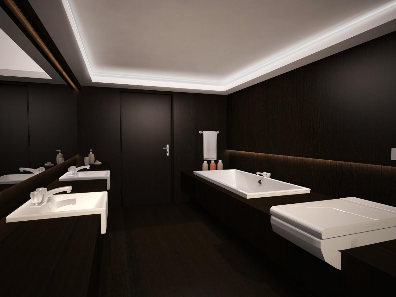 visualización 3D del proyecto en el El baño en el estilo de Armani 3d max render vray Катерина