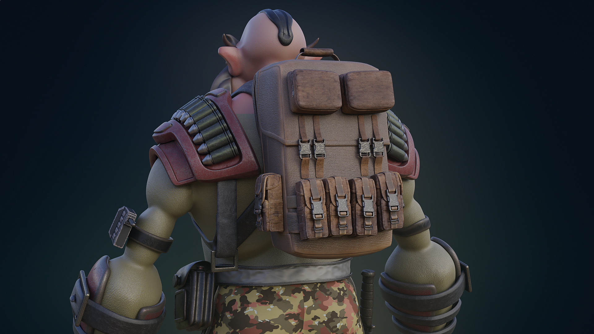 soldier in Blender cycles render image