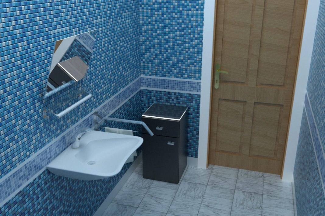 3d visualization of the project in the Lavatory 3d max, render vray of Nurullokhon