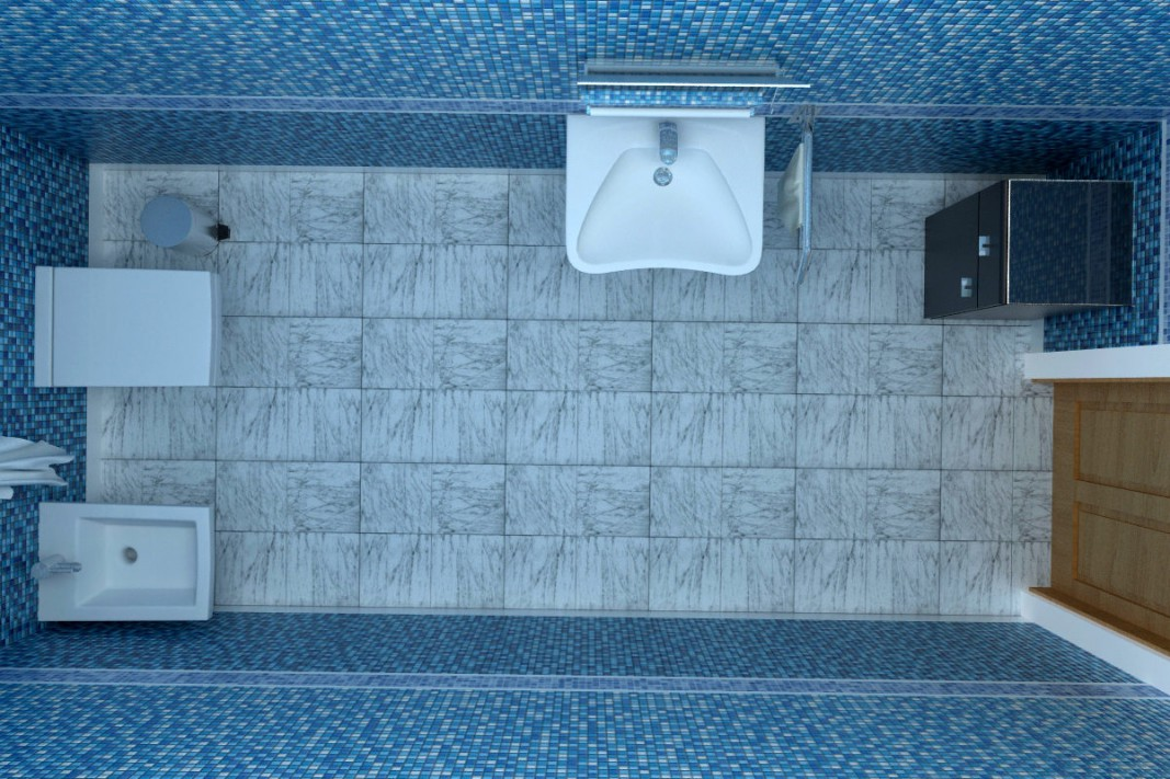 Lavatory in 3d max vray image