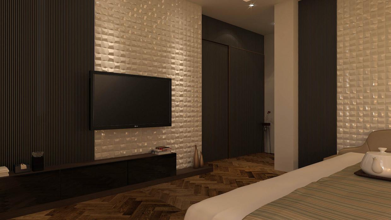 Contemporary Premium Luxury master bedroom in 3d max vray 3.0 image