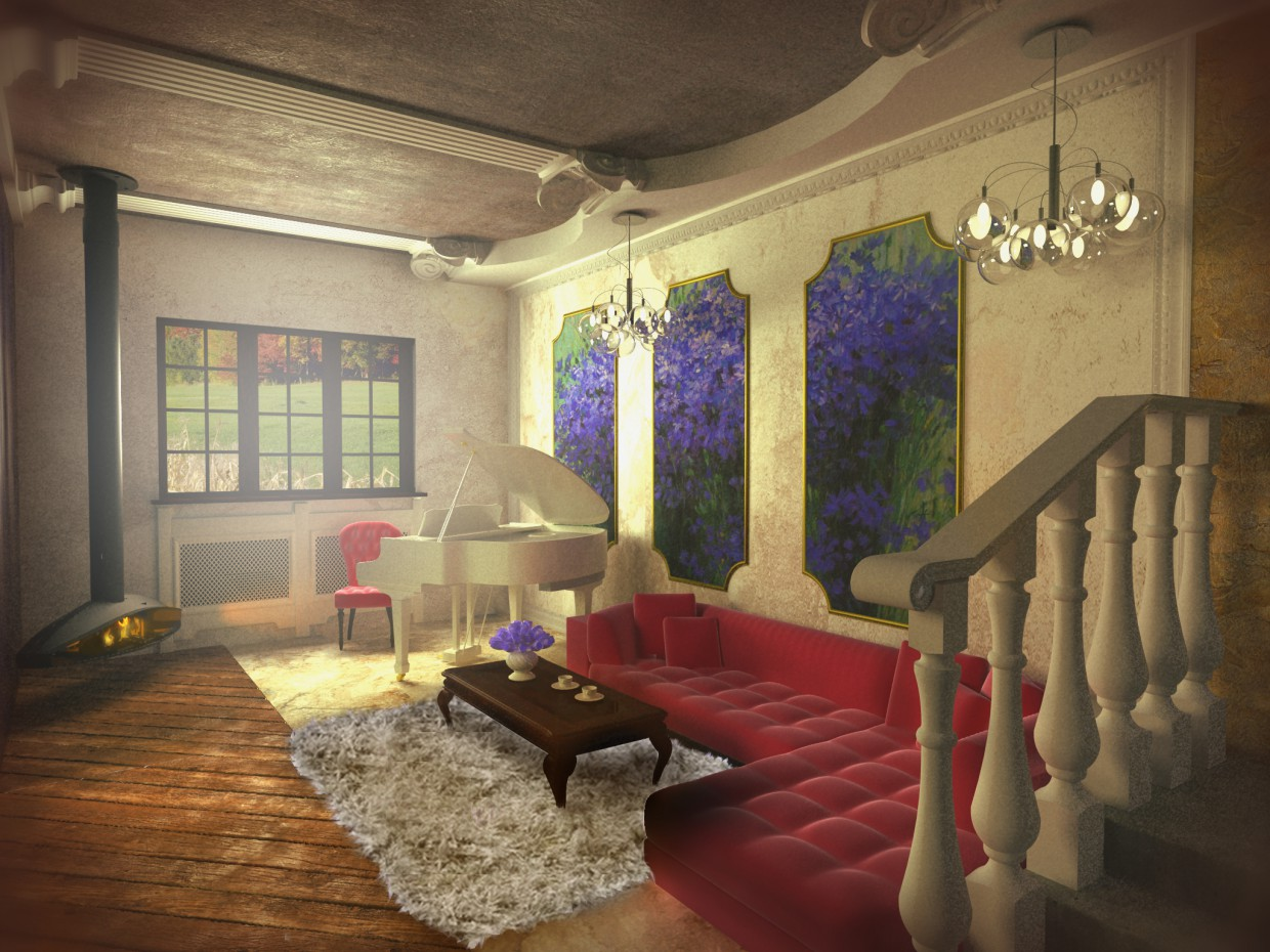 living room interior in 3d max vray image