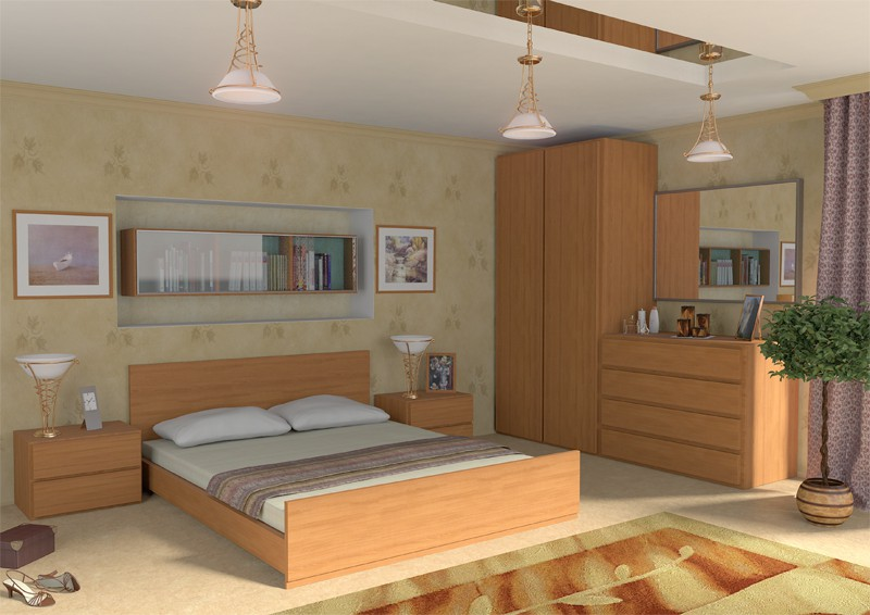 interior furniture in Maya mental ray image