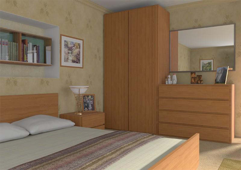 interior furniture in Maya mental ray image