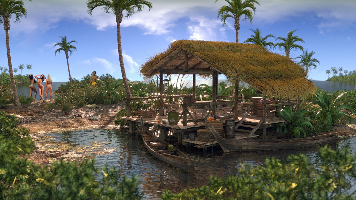 Somewhere in warm lands in 3d max corona render image