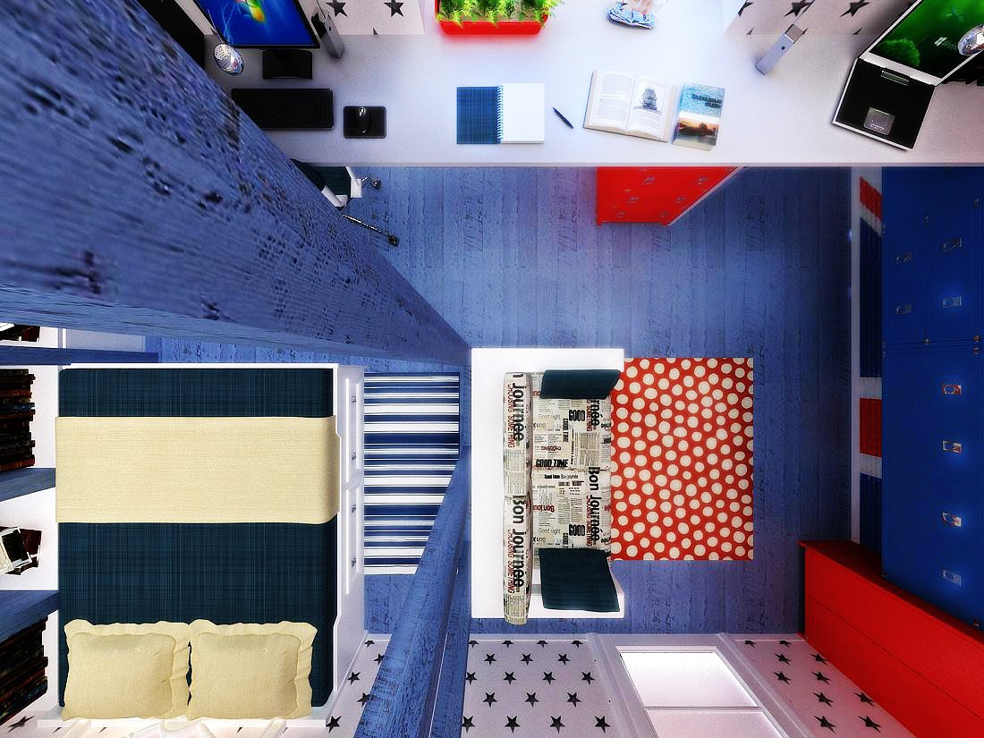 imagen de Sala de en 3d max vray