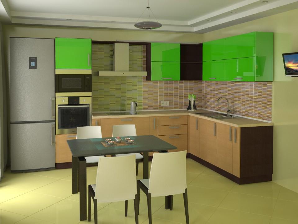 3d візуалізація проекту Кухня в 3d max, рендер vray від Vadim-bel