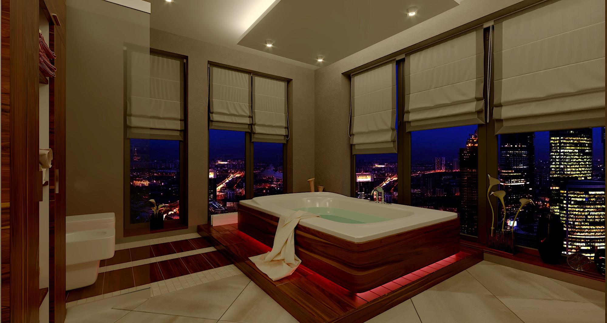 salle de bain dans 3d max corona render image