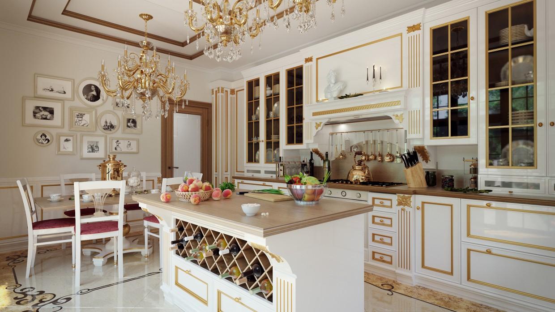 imagen de Cocina clásica en 3d max corona render