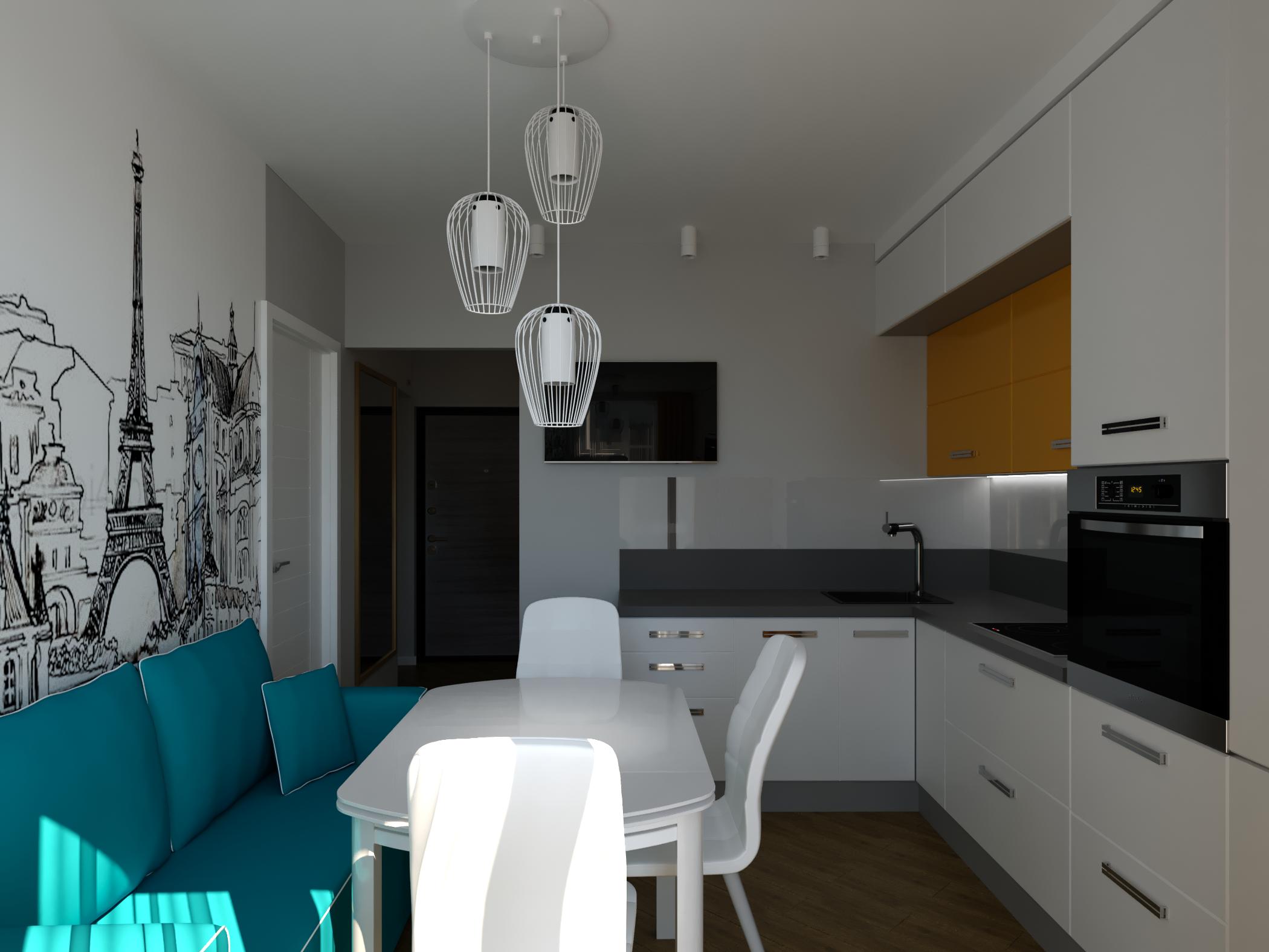 Kitchen in 3d max corona render image