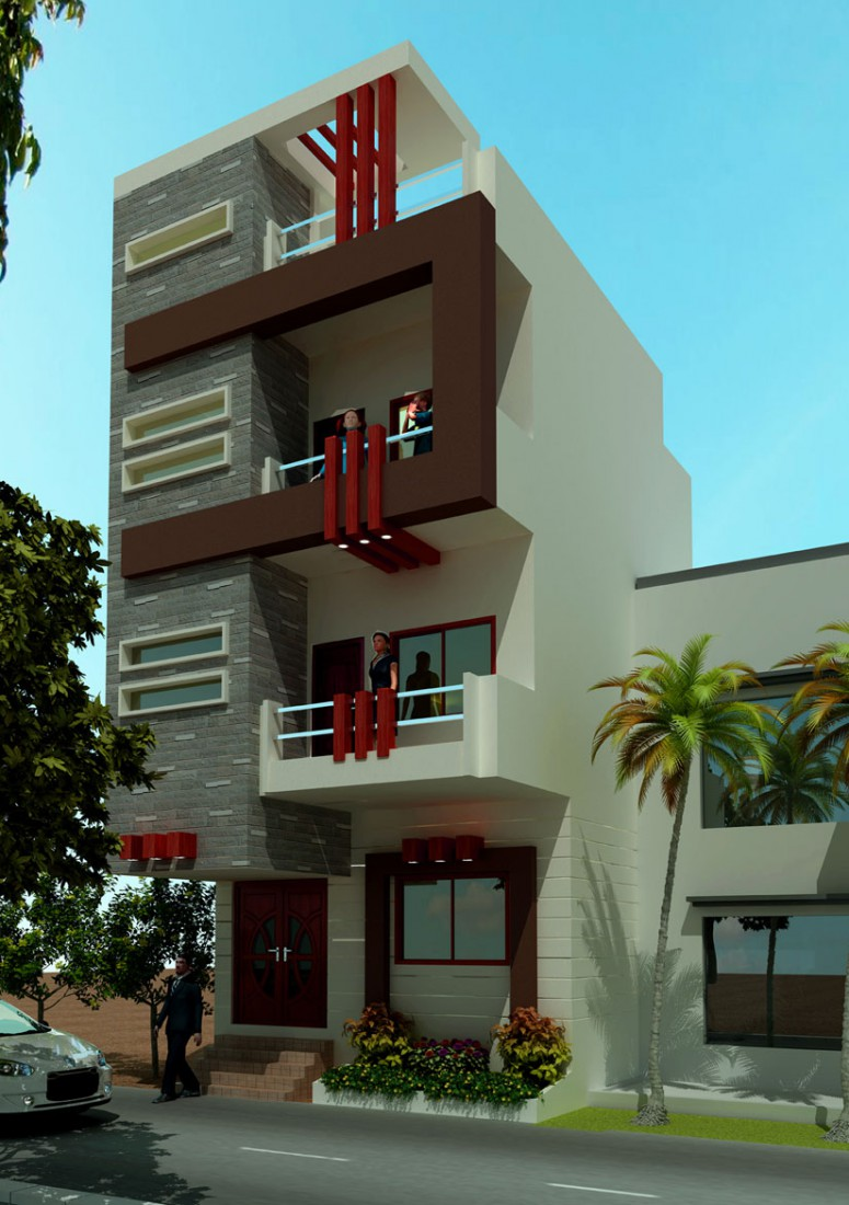 Mr Naeem Residence  in  3d max   vray  image