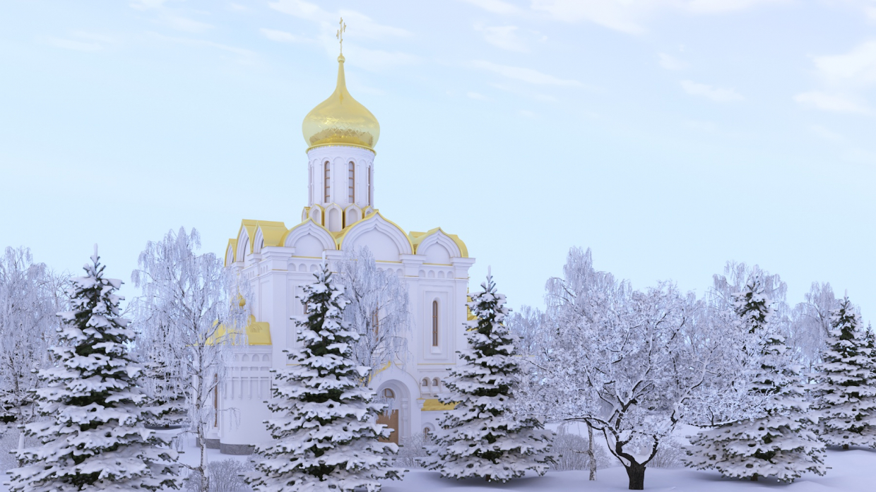 Winter's tale in 3d max vray 3.0 image