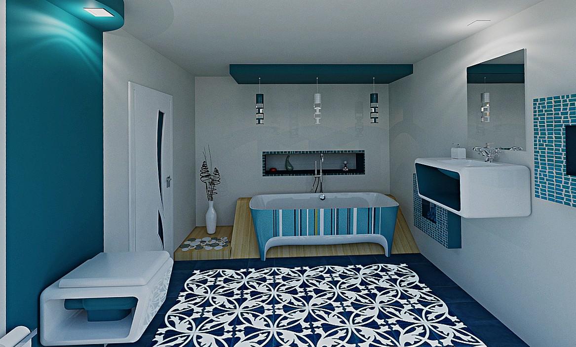 Ванная комната в 3d max mental ray изображение