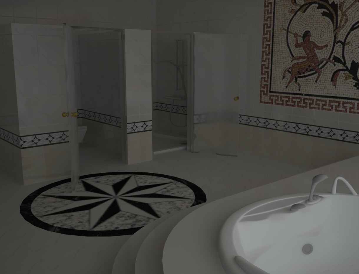 Bathroom with Jacuzzi in 3d max vray image