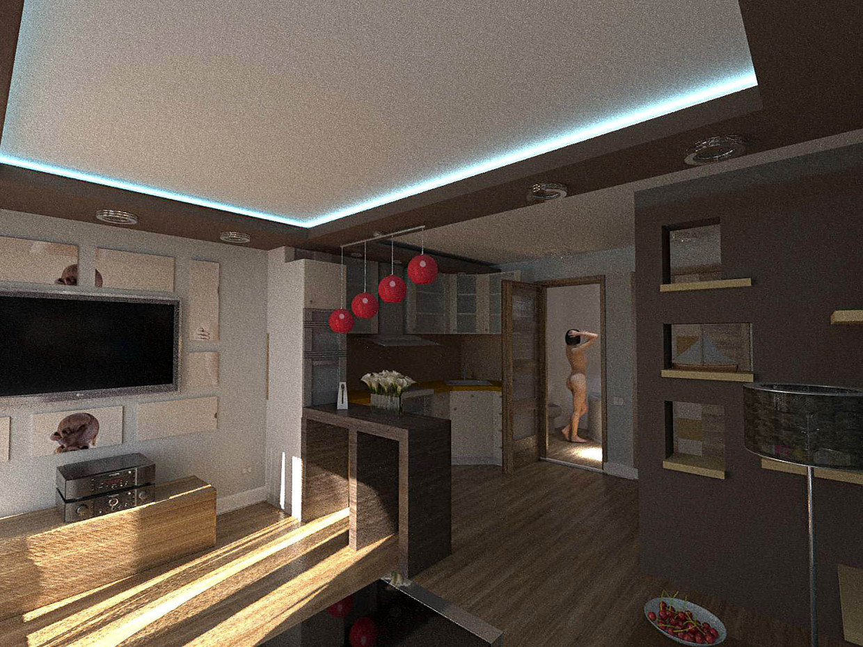 Interiors for townhouses. in ArchiCAD corona render image
