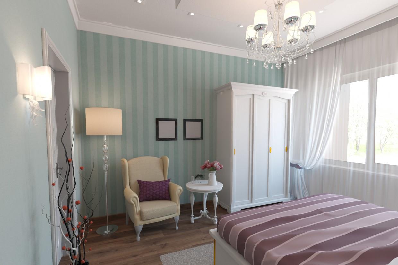 Спальня-Французький стиль в 3d max vray зображення