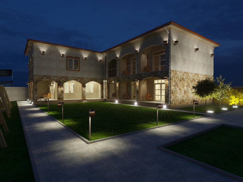 Minihotel in Bulgaria in ArchiCAD corona render image