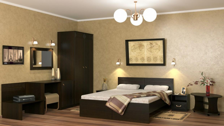 3d визуализация проекта Номер гостиницы в 3d max, рендер vray от dvizhok