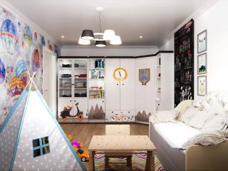 Visualizzazione della stanza di un bambino