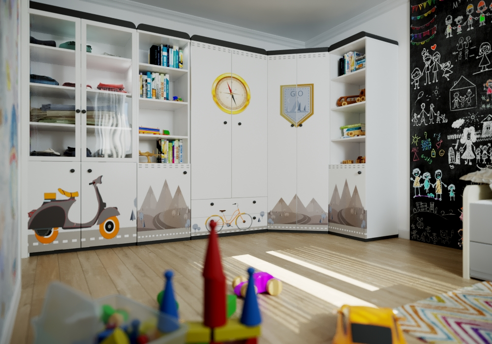Visualization of a child's room in 3d max corona render image
