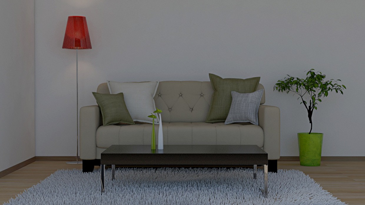 Sofa in 3d max mental ray image
