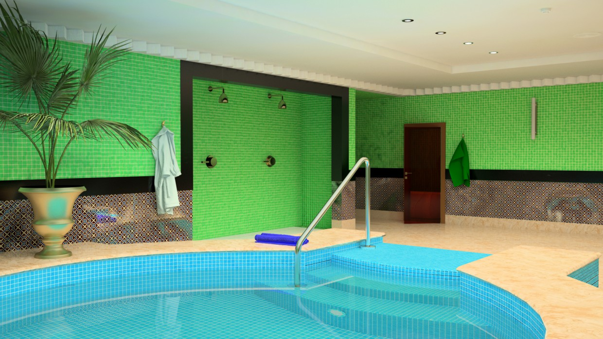 Pool in Maya vray image