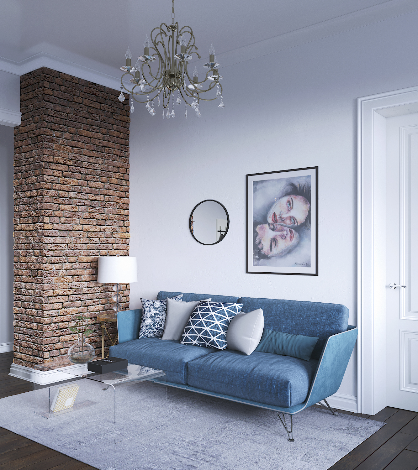 Interior visualisation in 3d max corona render image