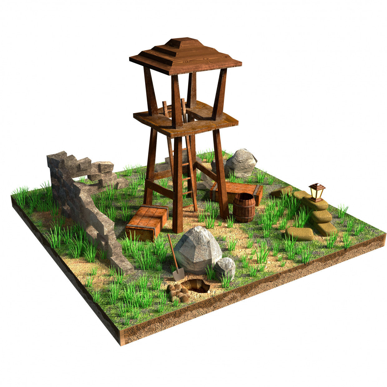 Wooden Tower in Maya Other image