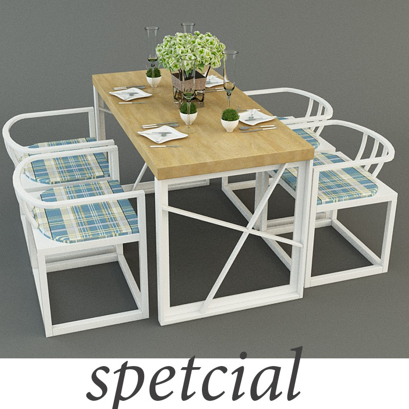 Table with chairs SPETCIAL TASARIM in 3d max vray image