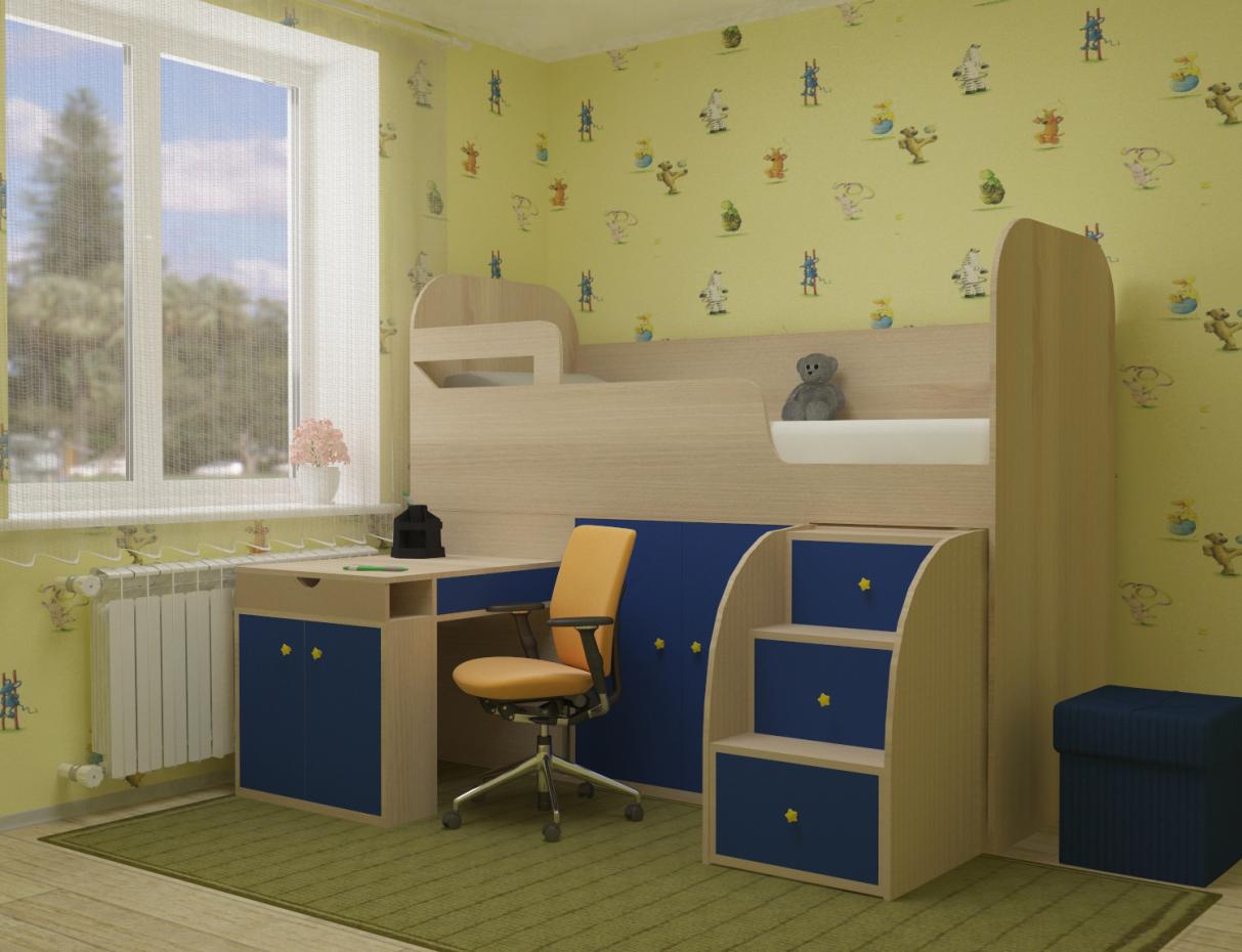 imagen de Muebles infantiles en 3d max vray 3.0