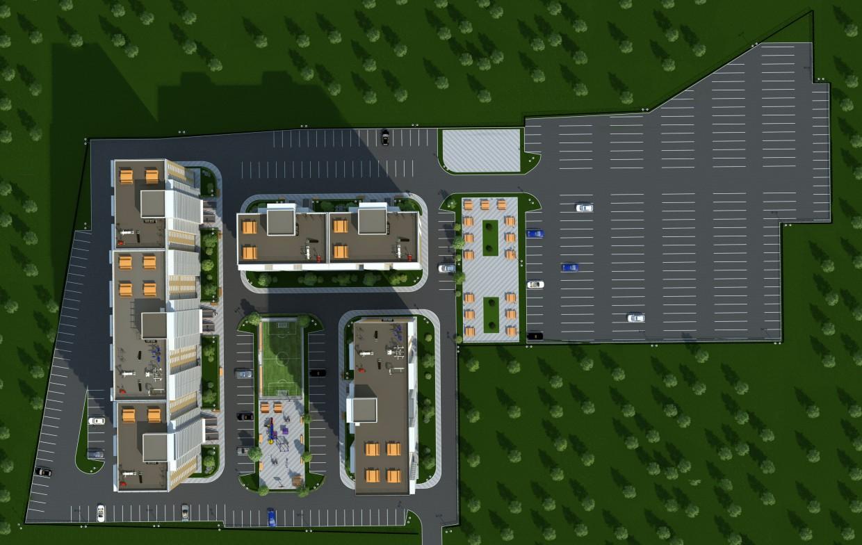 Complexo residencial em 3d max vray imagem