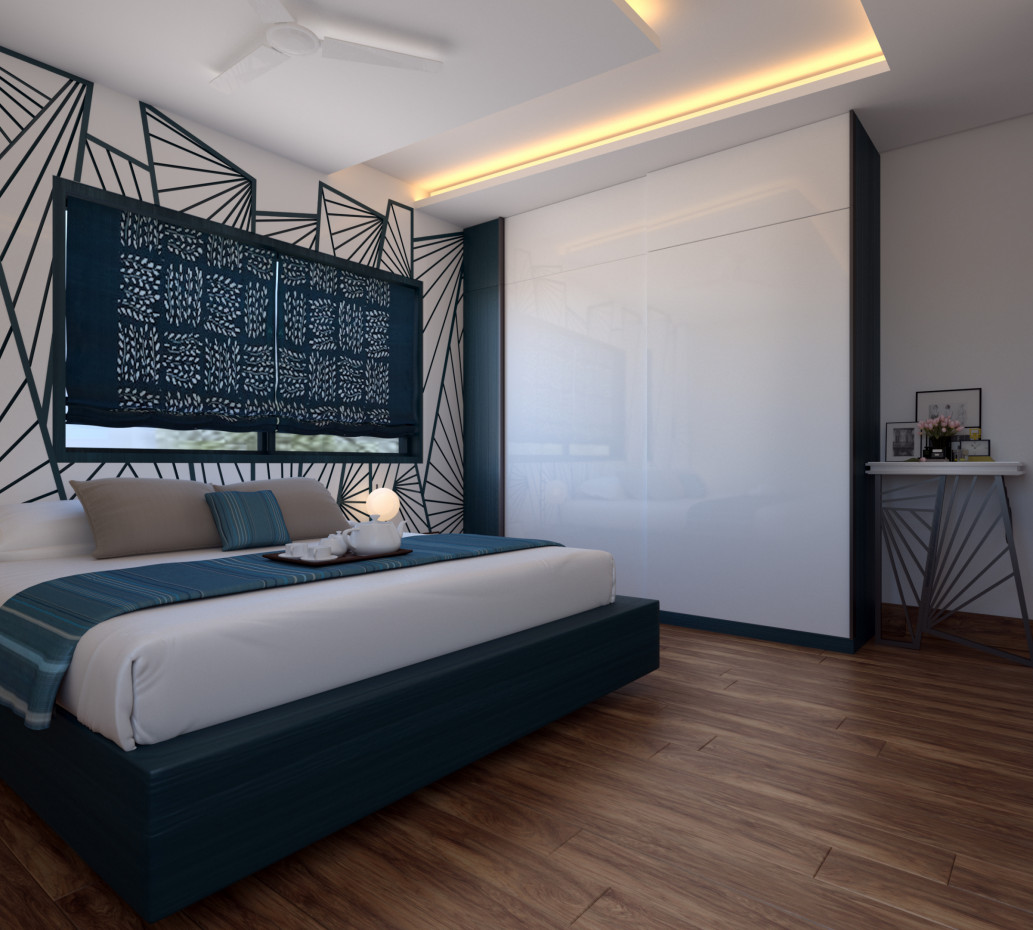 Modern Master Bedroom in 3d max vray 3.0 image