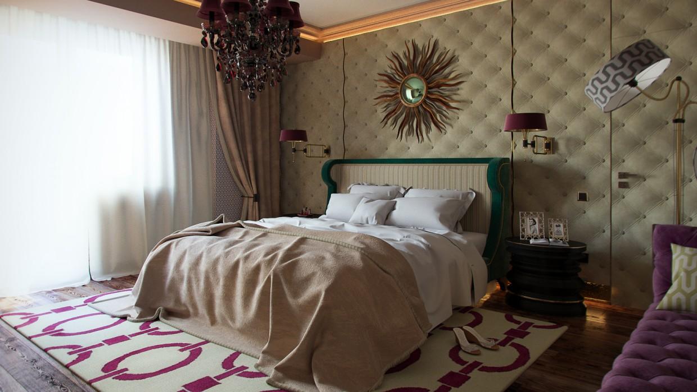 Bedroom of one girl in 3d max corona render image