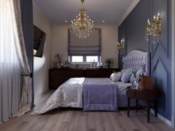 बेडरूम का 3 डी प्रतिपादन
