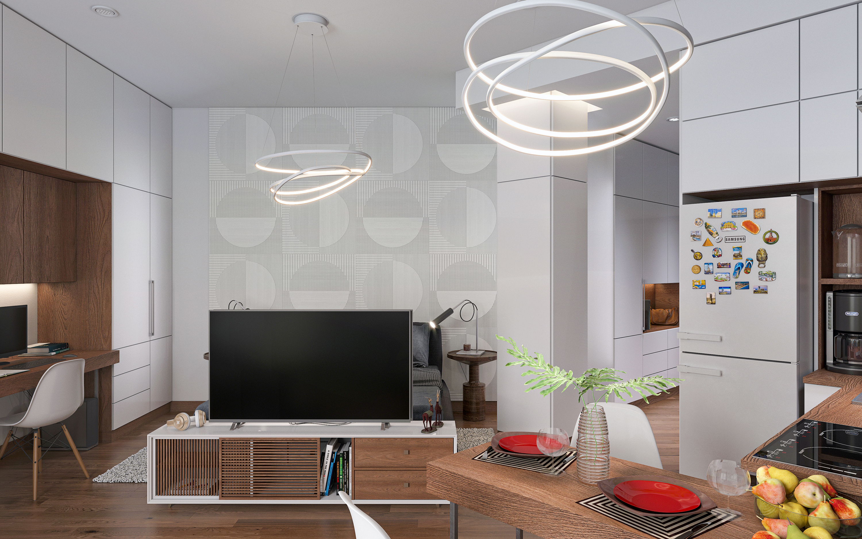 Smart apartment S38. in 3d max corona render image