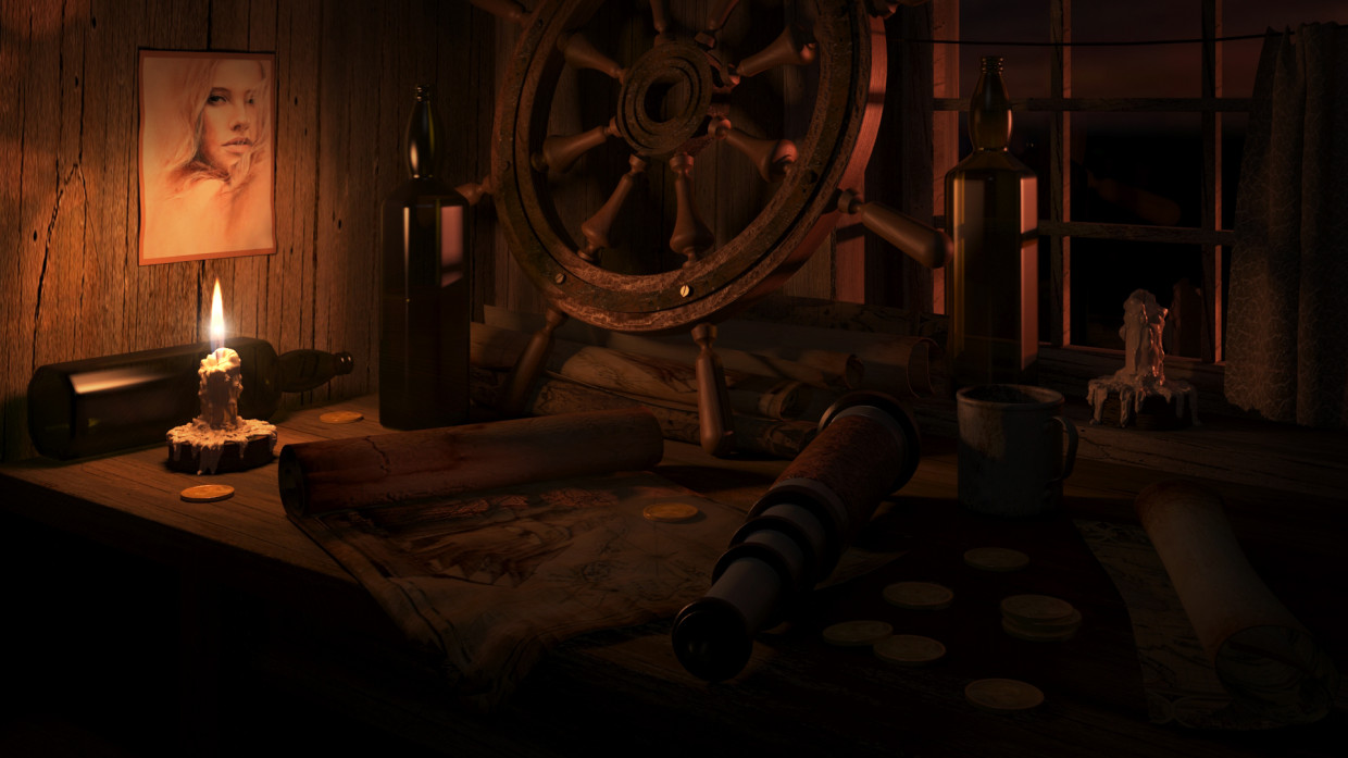 Hut of the old sailor in 3d max corona render image