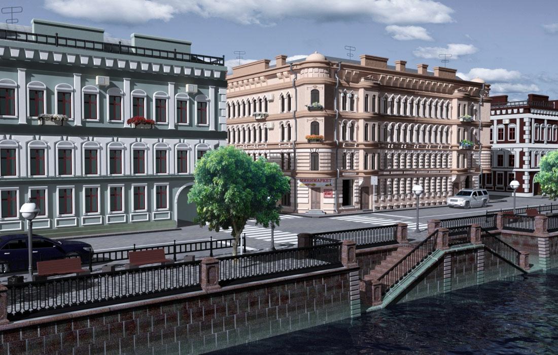 Embankment in 3d max mental ray image