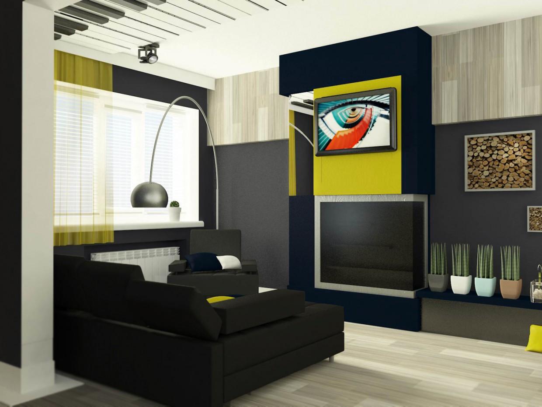 imagen de Vida y espacio de trabajo para joven músico en 3d max vray